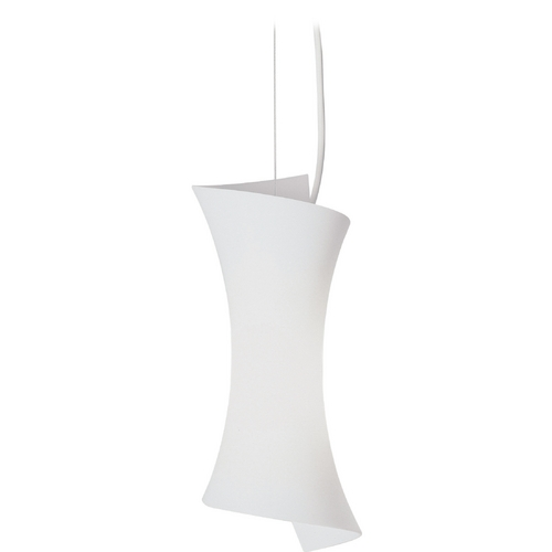 ET2 Lighting Modern Mini-Pendant Light with White Glass E20420-09