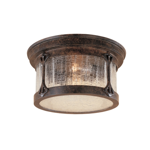 Designers Fountain Lighting Close To Ceiling Light with Clear Glass in Chestnut Finish 20935-CHN