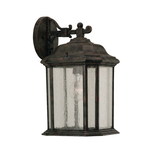 Sea Gull Lighting Outdoor Wall Light with Clear Glass in Oxford Bronze Finish 84031-746