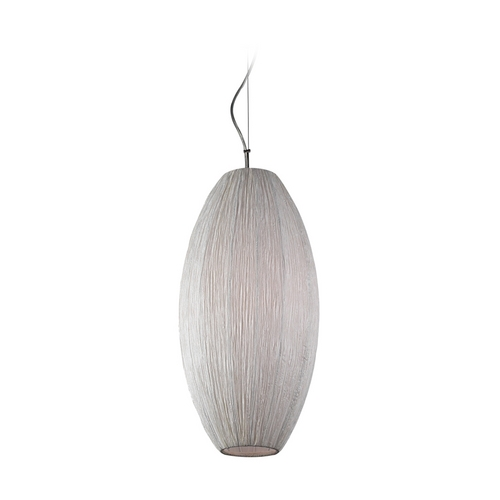 PLC Lighting Modern Pendant Light with White Shade in Ivory Finish 73016 IVORY