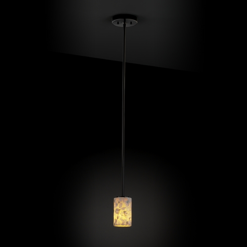Justice Design Group Justice Design Group Alabaster Rocks! Collection Mini-Pendant Light ALR-8815-10-MBLK