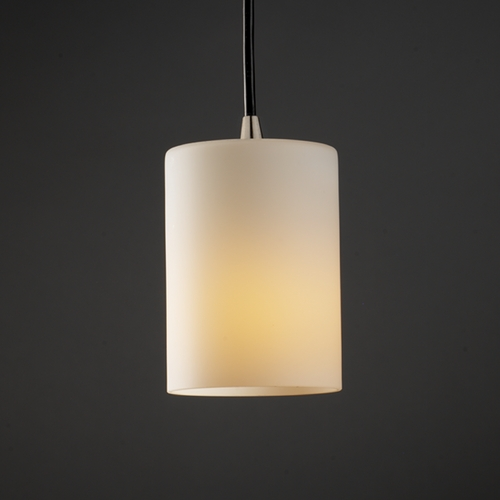 Justice Design Group Justice Design Group Fusion Collection Mini-Pendant Light FSN-8815-10-OPAL-NCKL