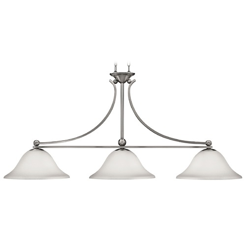 Hinkley Lighting Island Light with White Glass in Brushed Nickel Finish 4666BN