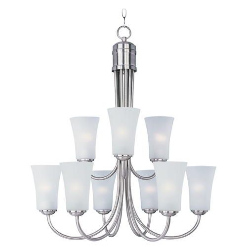 Maxim Lighting Maxim Lighting Logan Satin Nickel Chandelier 10046FTSN