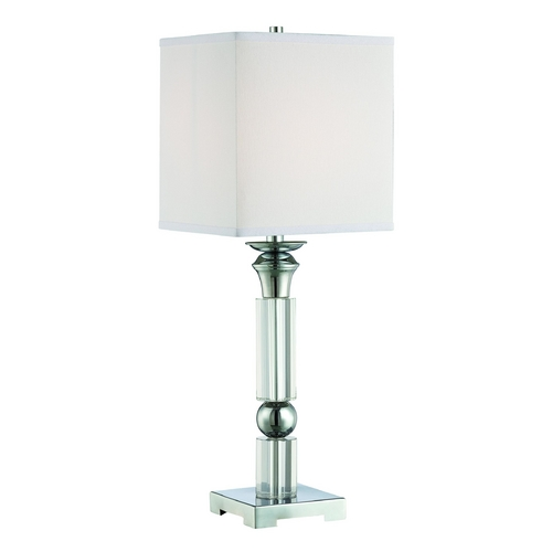 Lite Source Lighting Lite Source Lighting Nicolette Chrome Table Lamp with Square Shade LS-22347