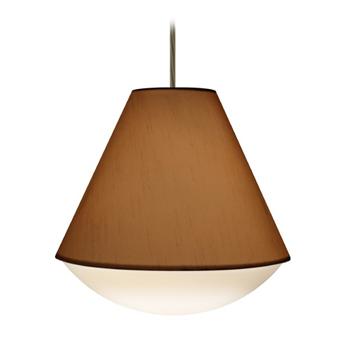 Besa Lighting Besa Lighting Reflex Bronze LED Pendant Light with Empire Shade 1JT-RFLXTO-LED-BR