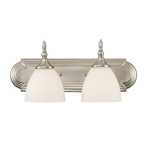 Savoy House Savoy House Lighting Herndon Satin Nickel Bathroom Light 8-1007-2-SN