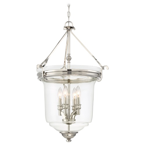 Minka Lavery Minka Audrey's Point Polished Nickel Pendant Light with Bell Shade 3298-613