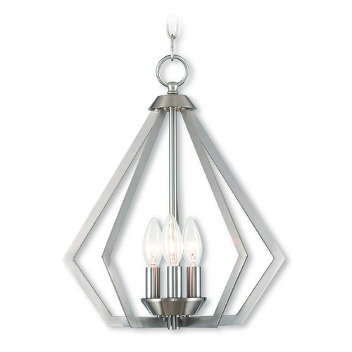 Livex Lighting Livex Lighting Prism Brushed Nickel Mini-Chandelier 40923-91