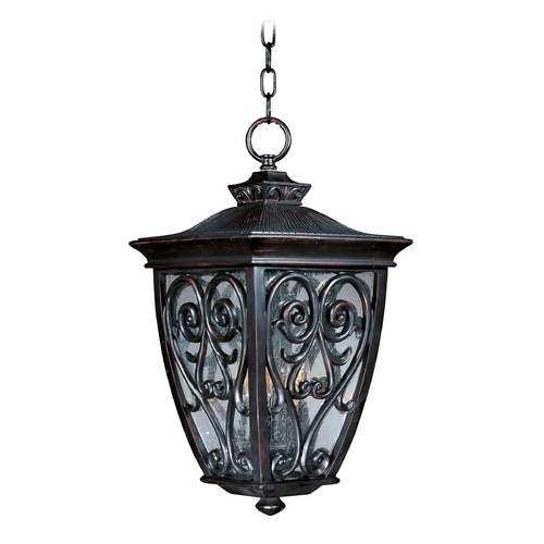Maxim Lighting Outdoor Hanging Light with Clear Glass in Oriental Bronze Finish 40128CDOB