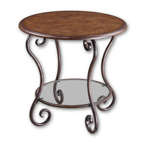 Uttermost Lighting Accent Table in Chestnut Brown Finish 24111