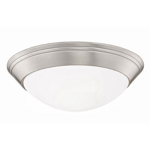 Design Classics Lighting Satin Nickel Flush Ceiling Light 12-Inch Wide 1012-09/W