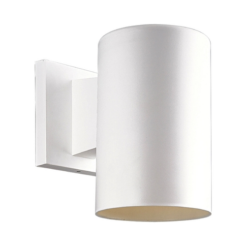 Progress Lighting Progress Lighting Cylinder White Outdoor Wall Light P5712-30