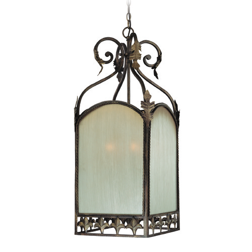 Jeremiah Lighting Jeremiah Devereaux Burleson Bronze Pendant Light with Square Shade 25736-BBZ