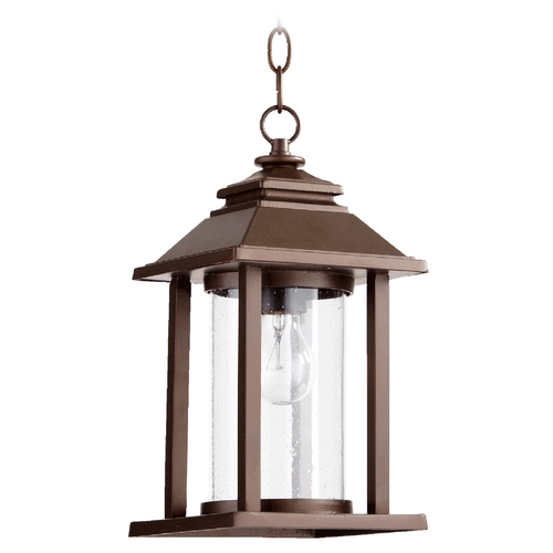 Quorum Lighting Quorum Lighting Crusoe Oiled Bronze Outdoor Hanging Light 7273-86