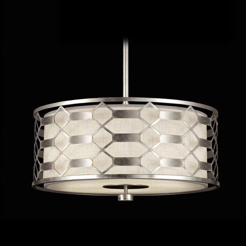 Fine Art Lamps Fine Art Lamps Allegretto Silver Platinized Silver Leaf with Subtle Brown Highlights Pendant Light w 787540GU