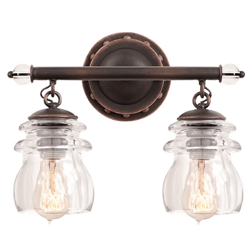 Kalco Lighting Kalco Lighting Brierfield Antique Copper Bathroom Light 6312AC