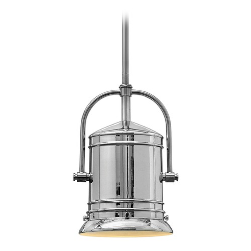 Hinkley Lighting Hinkley Lighting Pullman Chrome Mini-Pendant Light with Cylindrical Shade 3254CM-GU24