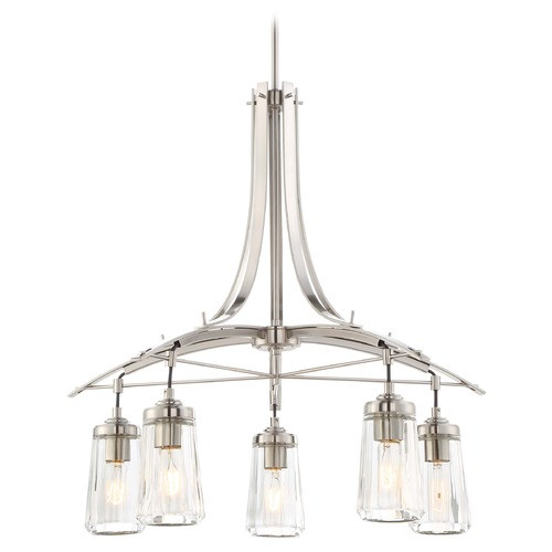 Minka Lavery Minka Poleis Brushed Nickel Chandelier 3305-84