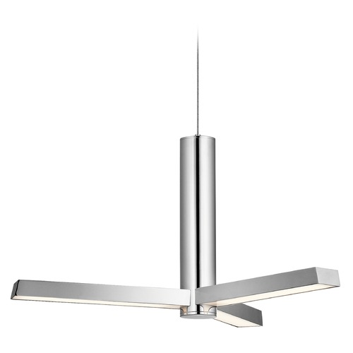 Elan Lighting Elan Lighting Trivon Chrome LED Pendant Light 83785