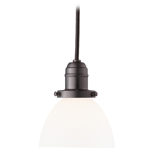 Hudson Valley Lighting Mini-Pendant Light with White Glass 3101-OB-823