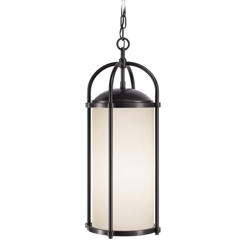 Feiss Lighting Modern Outdoor Hanging Light with White Glass in Espresso Finish OL7611ES