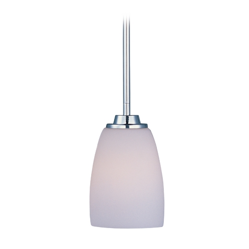 Maxim Lighting Maxim Lighting Rocco Chrome Mini-Pendant Light with Bowl / Dome Shade 90020SWPC