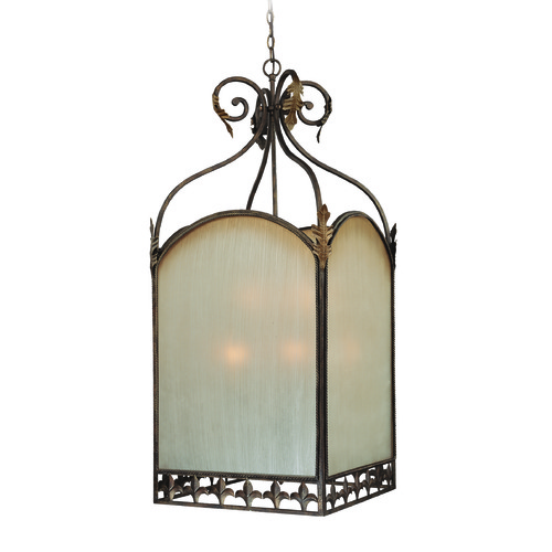 Jeremiah Lighting Jeremiah Devereaux Burleson Bronze Pendant Light with Square Shade 25739-BBZ