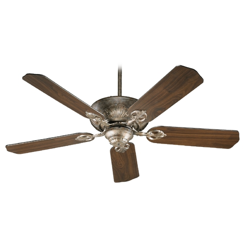Quorum Lighting Quorum Lighting Chateaux Mystic Silver Ceiling Fan Without Light 78525-58
