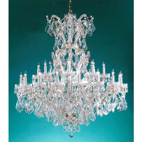 Crystorama Lighting Crystorama Maria Theresa 2-Tier 25-Light Crystal Chandelier in Gold 4424-GD-CL-S
