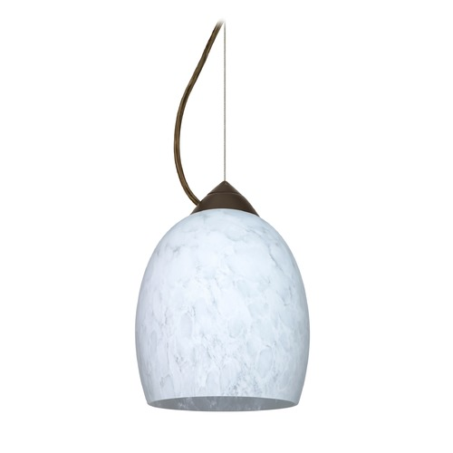 Besa Lighting Besa Lighting Lucia Bronze LED Mini-Pendant Light with Bell Shade 1KX-169719-LED-BR