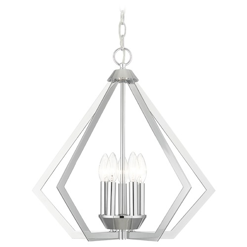 Livex Lighting Livex Lighting Prism Polished Chrome Chandelier 40925-05