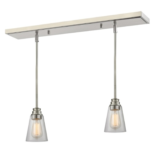 Z-Lite Z-Lite Annora Brushed Nickel Multi-Light Pendant with Conical Shade 428MP-2BN