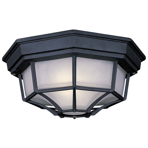 Minka Lavery Close To Ceiling Light with White Glass in Black Finish 9928-66-PL