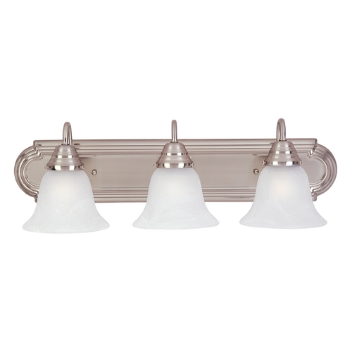Maxim Lighting Maxim Lighting Essentials Ee Satin Nickel Bathroom Light 85813MRSN