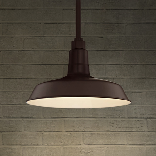 Recesso Lighting by Dolan Designs Bronze Pendant Barn Light with 12