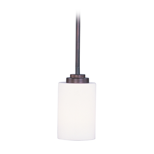 Maxim Lighting Modern Mini-Pendant Light with White Glass 90030SWOI