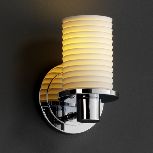 Justice Design Group Justice Design Group Limoges Collection Sconce POR-8511-10-SAWT-CROM