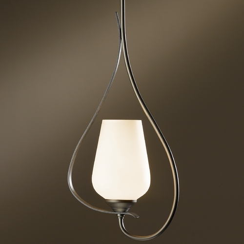 Hubbardton Forge Lighting Hubbardton Forge Lighting Flora Dark Smoke Mini-Pendant Light 18305-332-07-G303