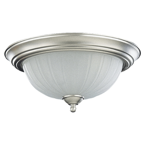 Quorum Lighting Quorum Lighting Satin Nickel Flushmount Light 3074-13-65