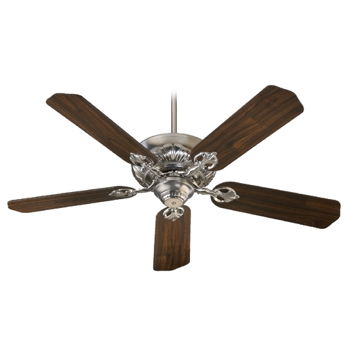 Quorum Lighting Quorum Lighting Chateaux Satin Nickel Ceiling Fan Without Light 78525-65
