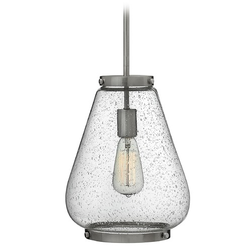 Hinkley Lighting Hinkley Lighting Finley Brushed Nickel Mini-Pendant Light with Urn Shade 3684BN