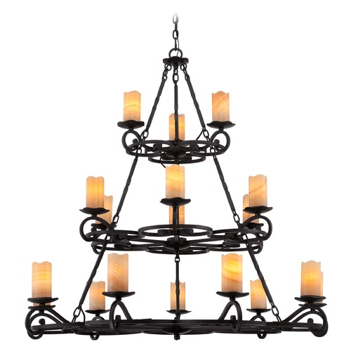 Quoizel Lighting Quoizel Armelle Imperial Bronze Chandelier AME5018IB