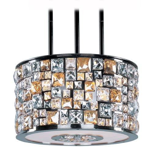 Maxim Lighting Maxim Lighting Fifth Avenue Luster Bronze Pendant Light with Drum Shade 39795JCLB