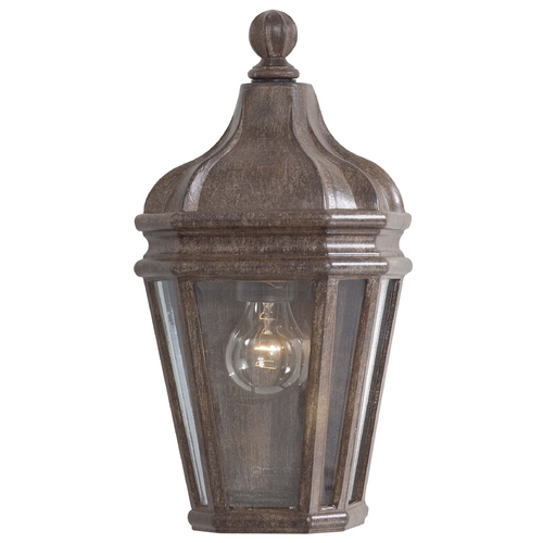 Minka Lavery Outdoor Wall Light with Clear Glass in Vintage Rust Finish 8697-61