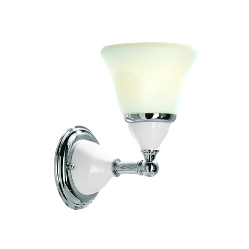 Hudson Valley Lighting Sconce with White Glass in Satin Nickel Finish 461-SN
