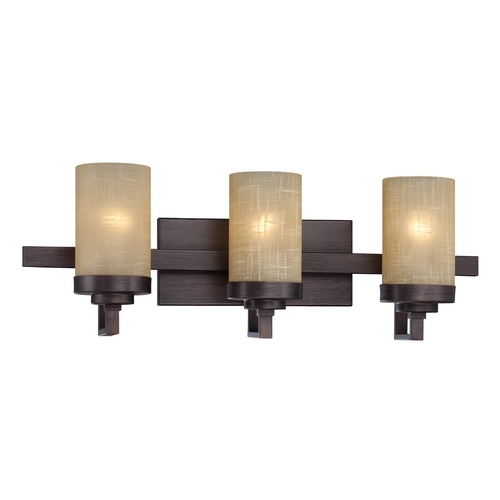 Designers Fountain Lighting Bathroom Light with Beige / Cream Glass in Tuscana Finish 83603-TU