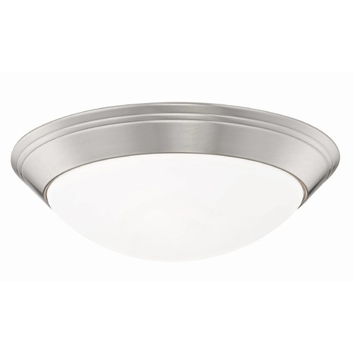 Design Classics Lighting Pau Satin Nickel Flushmount Light - 14-Inches Wide 1014-09/W