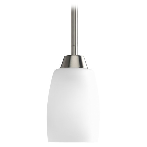 Progress Lighting Progress Mini-Pendant Light with White Glass P5108-09