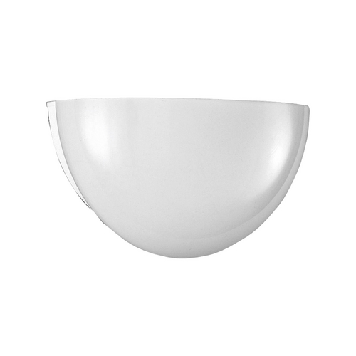 Progress Lighting Progress Modern Sconce Wall Light with White Glass in White Finish P7112-30